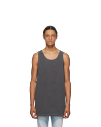 John Elliott Grey Rugby Tank Top