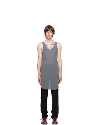 11 By Boris Bidjan Saberi Grey Synth Tank Top