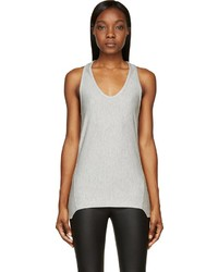 Helmut Lang Heather Grey Baby Terry Racerback Tank Top