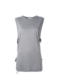 Helmut Lang Lace Up Laterals Sleeveless T Shirt