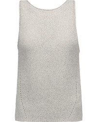 Enza Costa Pointelle Knit Cotton Blend Tank