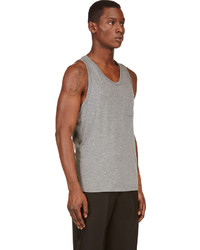 00eb6d18e7bd ... Alexander Wang T By Heather Grey Classic Pocket Tank Top