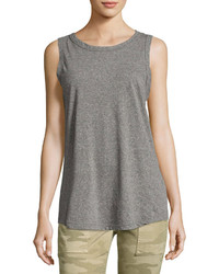 Current/Elliott The Cross Back Muscle Tee Gray
