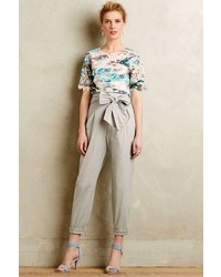 Anthropologie Cartonnier Bowtied Paperbag Crops