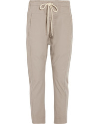 Cotton drill tapered pants taupe medium 3947160