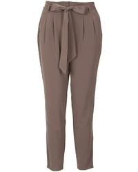 Izabel London Dark Grey Tapered Trousers
