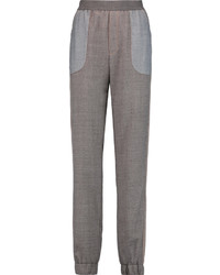See by chlo paneled twill slim leg pants medium 1328133
