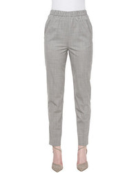 Tapered slim fit pants silvergray melange medium 1328108