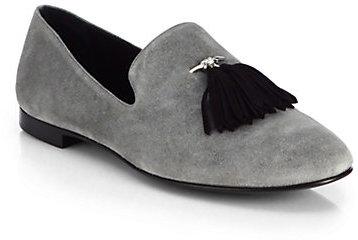30ec470d536af Giuseppe Zanotti Tassel Suede Loafers, $625 | Saks Fifth Avenue ...