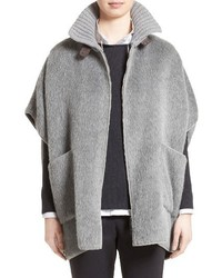 Fabiana Filippi Textured Alpaca Wool Cape