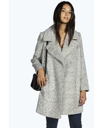 Boohoo Boutique Linda Boucle Oversized Collar Cocoon Coat