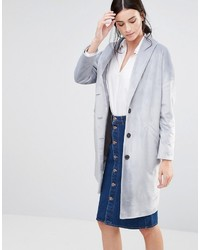 Helene Berman Ema Coat In Textured Gray