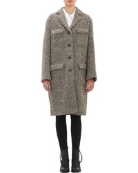 Acne Studios Tessa Boucle Four Button Coat Grey