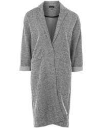Topshop Textured Jersey Coat