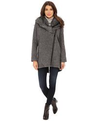 Vince Camuto Fur Hood Sweater Coat J8241