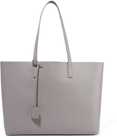 d68cdc6c560 Saint Laurent Shopping Large Textured Leather Tote Gray, $995   NET ...