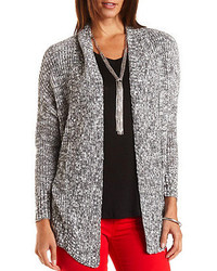 Charlotte Russe Marled Open Front Cardigan Sweater