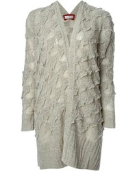 Textured knit oversized cardigan medium 205738