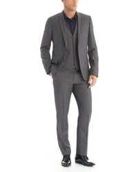 Hugo Boss Arlanwenshiver Slim Fit Italian Wool 3 Piece Suit 42r Grey