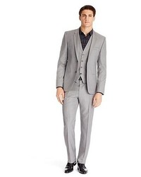 Arnotwentonha slim fit super 120 italian virgin wool 3 piece suit medium 64853