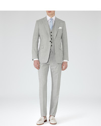 Reiss Garda Peak Lapel Three Piece Suit