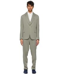 Ermenegildo Zegna Couture Grey Viscose Three Piece Suit