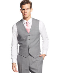 Tommy Hilfiger Light Grey Stripe Vested Suit | Where to buy & how ...