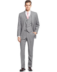 Tommy Hilfiger Light Grey Stripe Vested Suit