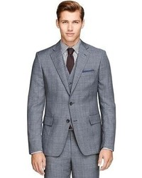 Brooks Brothers Regent Fit Three Piece Sharkskin Deco 1818 Suit