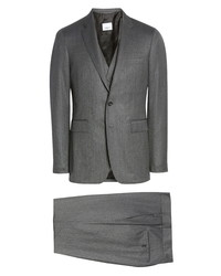Burberry Slim Fit Wool Cashmere Three Piece Suit