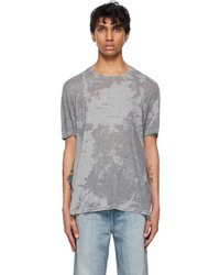 Saint Laurent Grey Shiny T Shirt