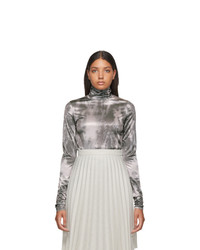 Acne Studios Beige And Grey Eryn Turtleneck