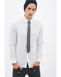 Forever 21 Solid Woven Skinny Tie