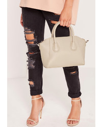 Missguided Mini Winged Tote Bag Grey