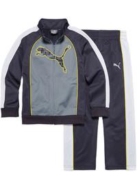 Puma 2 Pc Colorblock Cat Track Suit Preschool Boys 4 7