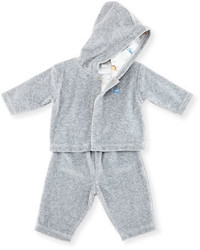 Kissy Kissy Jurassic Journey Velour Track Suit Gray Size 3 18 Months