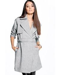 Boohoo Boutique Maria Textured Tailored Trench