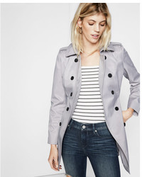 Express Classic Trench Coat With Trapunto Stitch Sash
