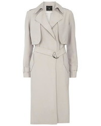 Dorothy Perkins Light Grey Longline Mac