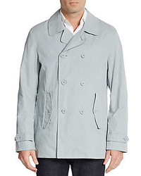 Double breasted cotton blend jacket medium 582220