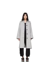 MM6 MAISON MARGIELA Grey Wool Trench Coat