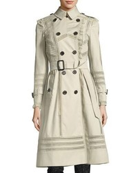 Burberry Lace Trim Double Breasted Trenchcoat