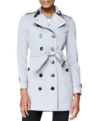 London double breasted fitted trenchcoat medium 268774