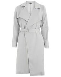 Poppy Lux Grey Winnie Trench Coat