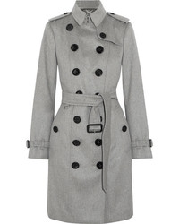 The sandringham cashmere trench coat gray medium 1251918
