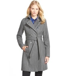Wool blend trench coat medium 444829