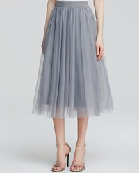 Grey Tulle Full Skirt
