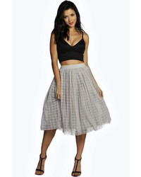 Marin boutique grid tulle tull midi skirt medium 372179