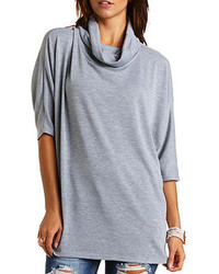 Charlotte Russe Oversized Cowl Neck Dolman Tunic Top