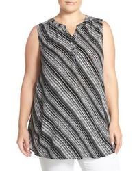 Plus size sleeveless gauze tunic medium 817503